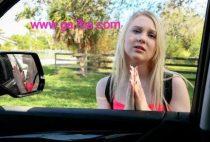 Sex blonde teen girl fuck in car suck dick ,بنت مراهقه شقراء تمص الزب في العربيه و تتناك